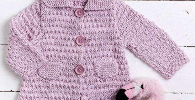 ensemble tricoté avec de la laine 100% bio Plassard